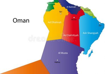 نقشه شهرهای کشور عمان در تور عمان