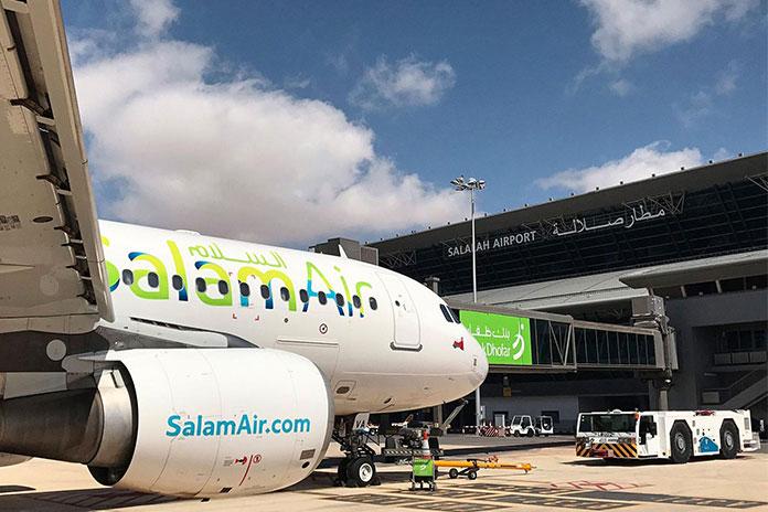 هواپیمایی سلام ایر عمان در حال مسافرگیری
