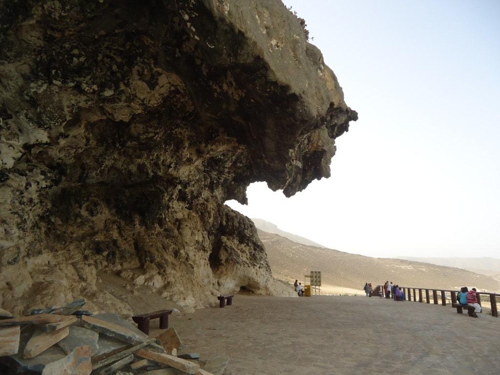 نمایی از غار مرنیف صلاله عمان