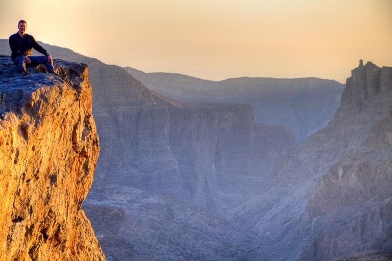 کوهنوردی در ارتفاعات زیبای جبل الاخضر عمان
