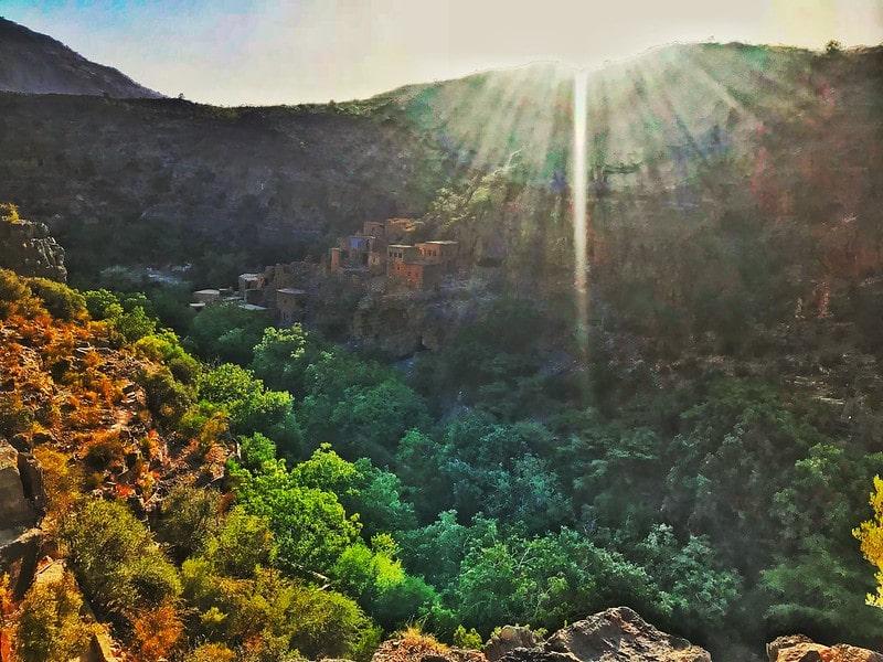 منطقه زیبای جبل الاخضر عمان یکی از تفریگاههای این کشور است
