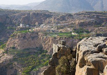 دره ای زیبا در منطقه جبل الاخضر عمان