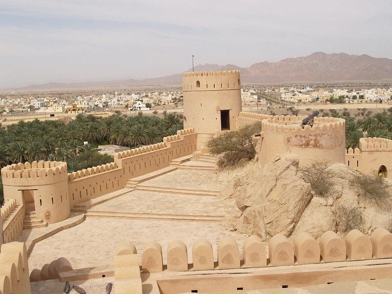 نمای قلعه بهلا از بالا