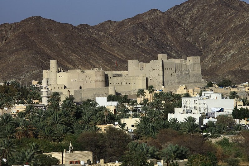 قلعه بهلا عمان از نمای دور