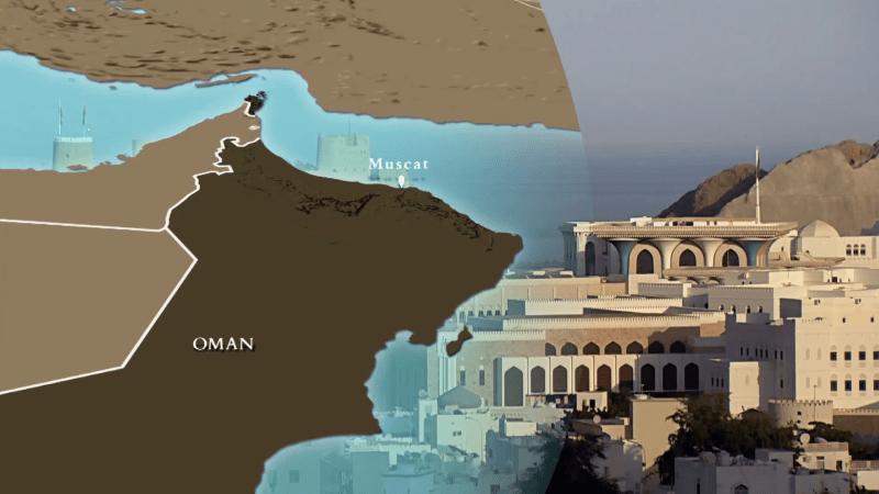 نقشه عمان همراه با مکانهای گردشگری