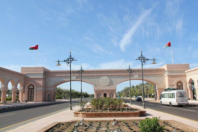 نمای ورودی بندر صحار عمان