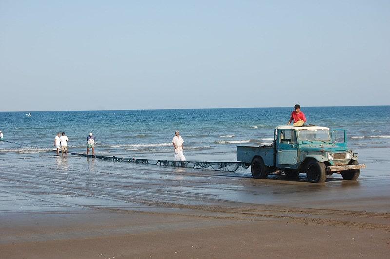 ماهیگیری در بندر صحار