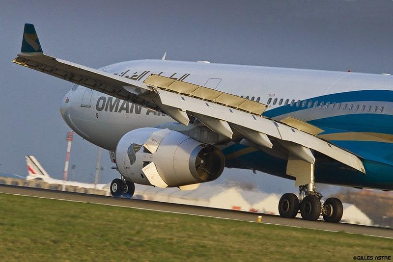 هواپیمایی عمان ایر در حال پرواز