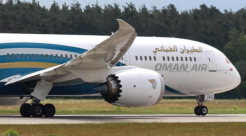 تصویر هواپیمای عمان ایر در فرودگاه