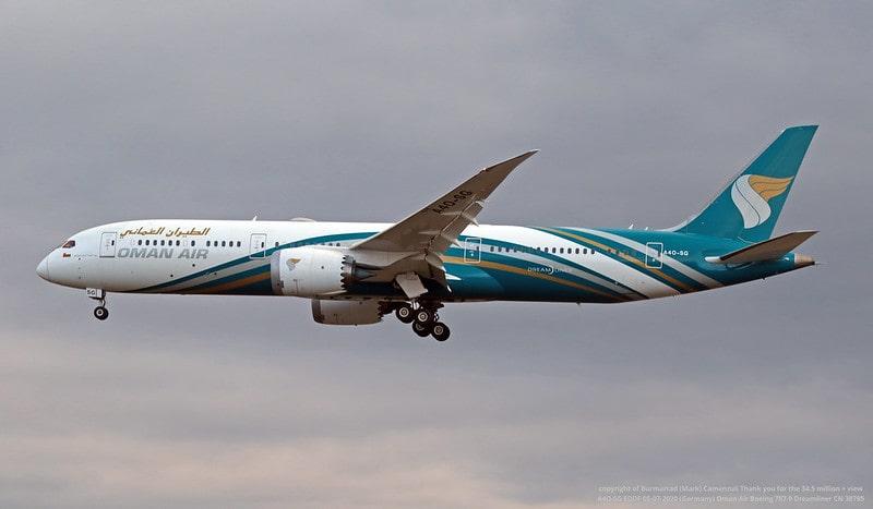 عمان ایر در حال پرواز