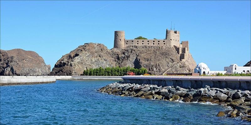 نمایی زیبا از قلعه جلالی میرانی مسقط
