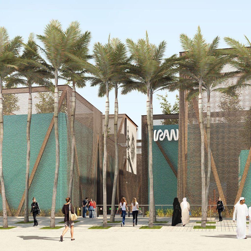 نمایی از پاویون(سایت) ایران در نمایشگاه اکسپو 2020 دبی