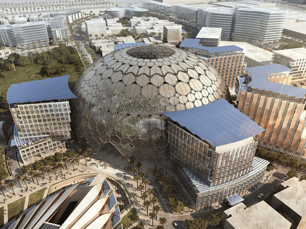 نمایی زیبا از محل برگزاری اکسپو دبی 2021